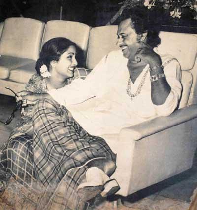 Kishore Kumar and forth wife Leena Chandavarkar