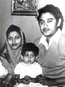 Ruma Guha, Amit Kumar, Kishore Kumar (circa 1953)